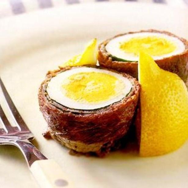 「ゆで卵の牛肉巻き」 レタスクラブニュースより