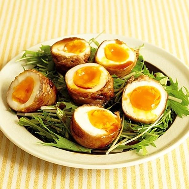 「肉巻きゆで卵」 レタスクラブニュースより