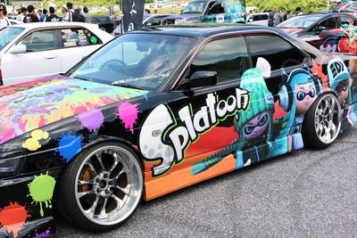 2016年のイベント時には、任天堂の人気ゲーム「スプラトゥーン」の展示車両も登場した