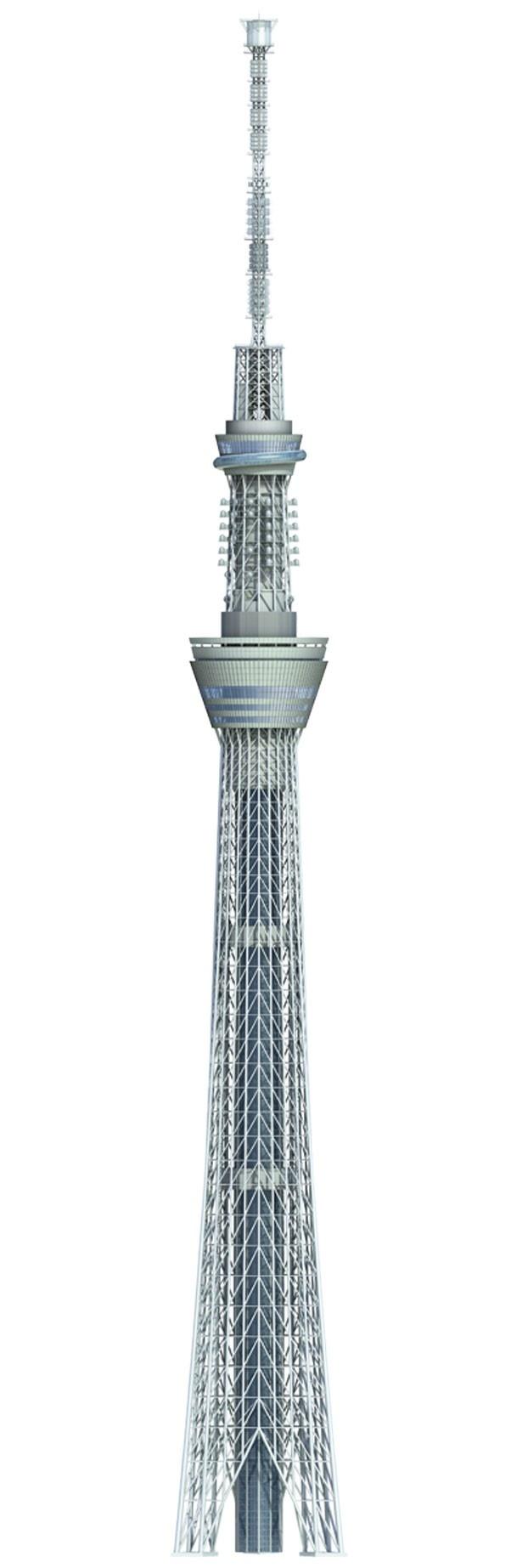 634mのタワーは自立式電波塔として世界一の高さを誇る