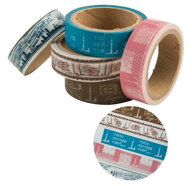 デザインとカラーバリエーションが豊富な「マスキングテープ」(各108円)