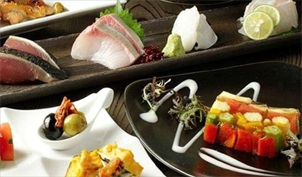 5月30日(火)より開業する「臥新(がしん)武蔵小杉店」。写真は他店舗での料理イメージ