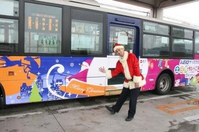 クリスマスバスとサンタクロース