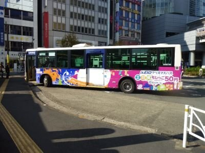 KEIOのクリスマスバス