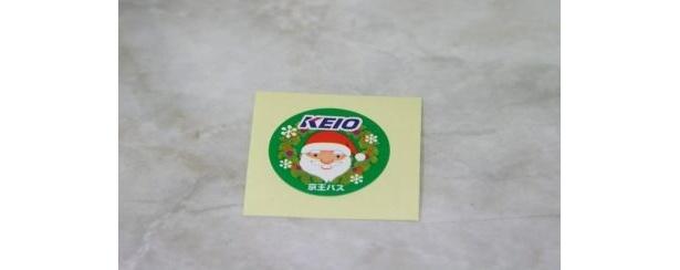 京王クリスマスバスの車内限定で配布しているサンタクロースシール