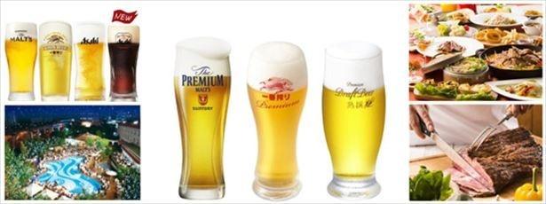 千里阪急ホテルでは、6月1日(木)よりプールサイドビアガーデンがオープン。開催期間中のプレミアムフライデーには、生ビールが3種類追加!