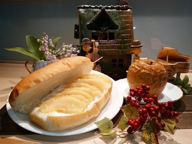 「福田パン」で販売される、「焼きリンゴ」をモチーフにした新メニュー