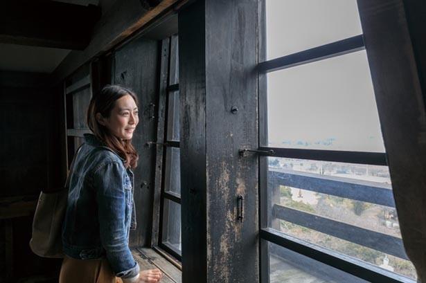 長浜城の大手門を移築されたとされる天秤櫓など国の重要文化財にも指定されている「彦根城」/彦根城