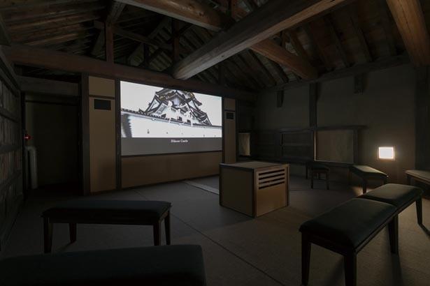 築城から江戸時代にかけての彦根城や城下町をVR映像で上映。同時期に築城された全国の名城も紹介/彦根城