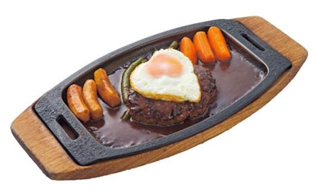 「ハンバーグステーキ」(1700円・サラダ、ライス付き)も人気/グリル一平 新開地本店