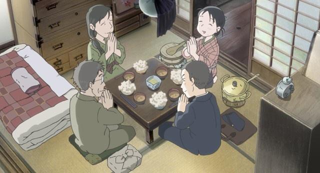 広島から呉の周作のもとへ嫁いだすずは、彼の優しい両親とともに暮らし始める