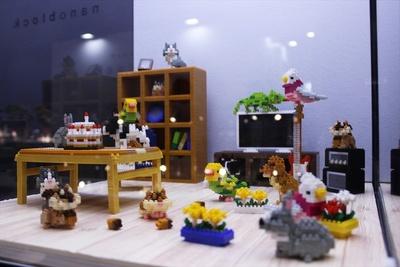 カワダ「nanoblock」コーナーにはジオラマ展示が多数!