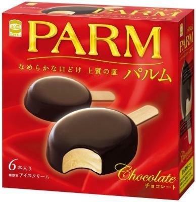 こちらが箱タイプ!エスキモー「パルム チョコレート」(380円/6本入り)