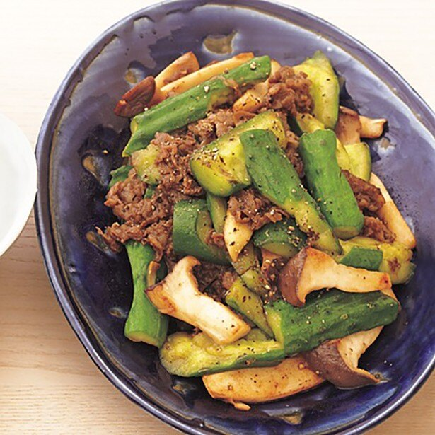 【関連レシピ】きゅうりの断面から味がしみておいしい「たたききゅうりと牛肉のオイスターソース炒め」