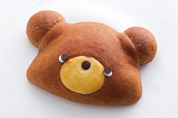 ココア生地にチョコクリームたっぷりのくまパン(150円)