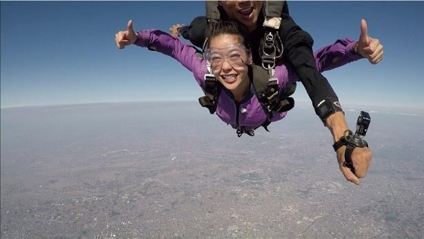 紅蘭は人生初のスカイダイビングにチャレンジ!