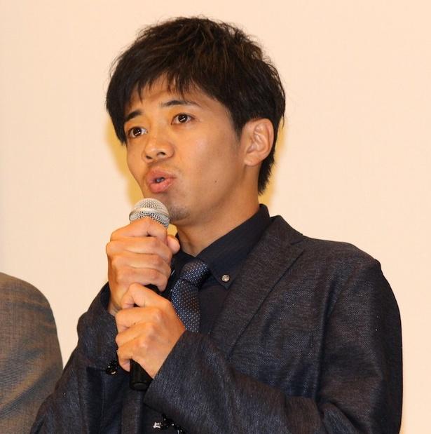 初日舞台挨拶に登壇した和田正人