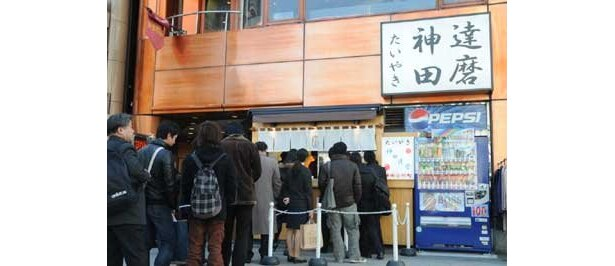 今回たい焼きの無料配布を行うのは「たいやき神田達磨」の「末広町店」 ※写真は神田の本店