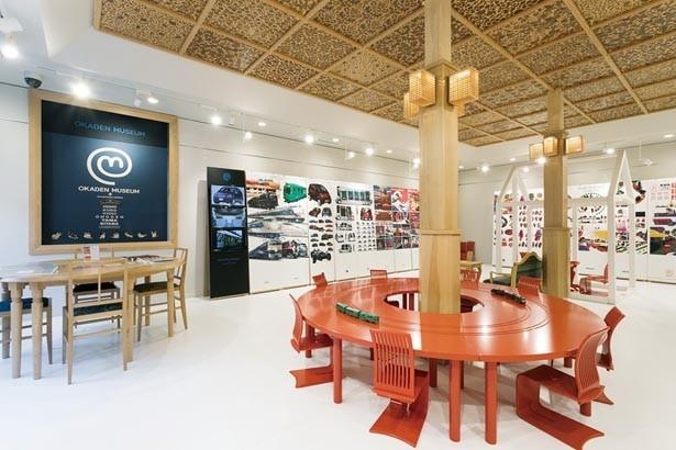 展示室のほか、水戸岡鋭治イラスト展、シアタールーム映画館なども備える館内/おかでんミュージアム+水戸岡鋭治デザイン
