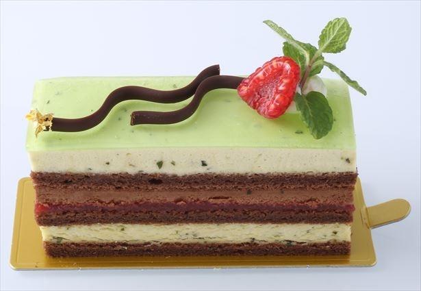 【写真を見る】ミントとチョコレートの味わいを楽しめる「ショコラ・ミント」(670円)