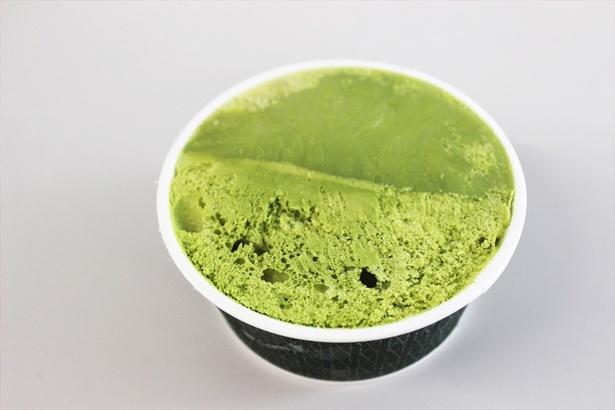 【写真を見る】2種の抹茶アイスを不均一にパッケージング