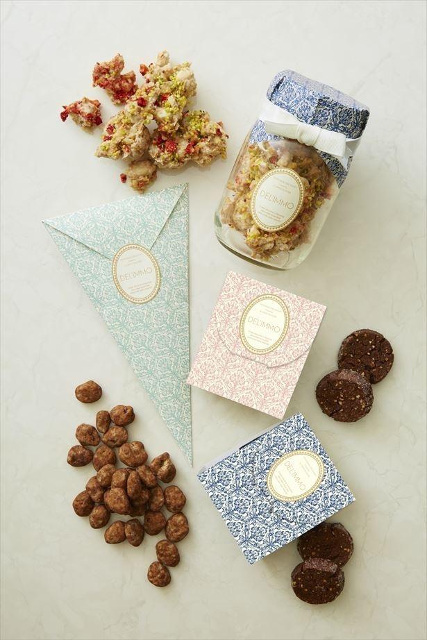 【写真を見る】新作焼菓子「DEL'IMMO Mignon(ミニョン)」が可愛いパッケージで