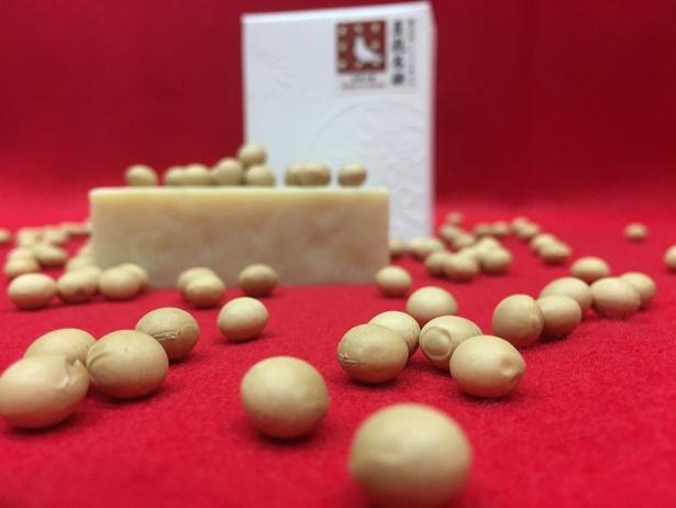 一番人気の「豆乳石鹸」は、粘りある泡が特徴
