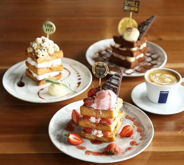 写真映えもする「BarVita(バールヴィータ)VIORO店」の新作スイーツ「ORTO's French Toast(オルトズ フレンチトースト)」(1300円)