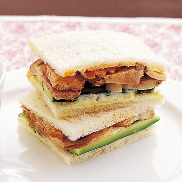 「煮豚ときゅうりのサンドイッチ」 レタスクラブニュースより