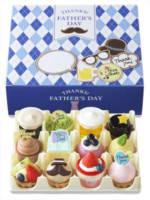 【写真を見る】父の日をテーマにしたケーキを詰め合わせた「「父の日パーティー」(写真は12個入り)
