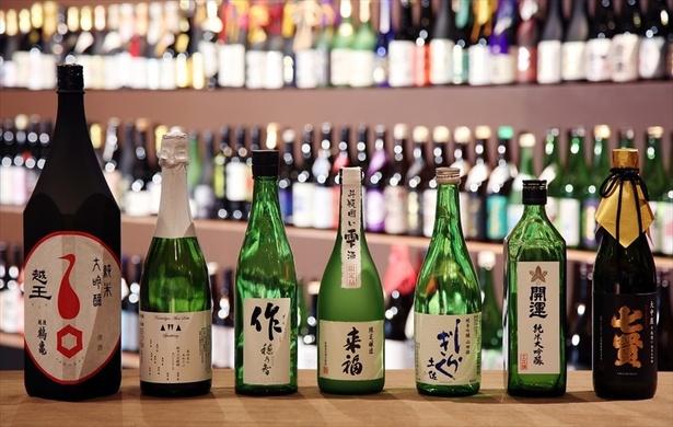 各部門を受賞した日本酒