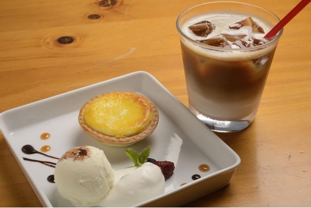 ニセコ高橋牧場/「カフェest」の「チーズタルトセット」