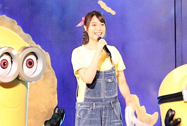 4月21日にオープンしたアトラクション「ミニオン・ハチャメチャ・ライド」も満喫した広瀬アリス