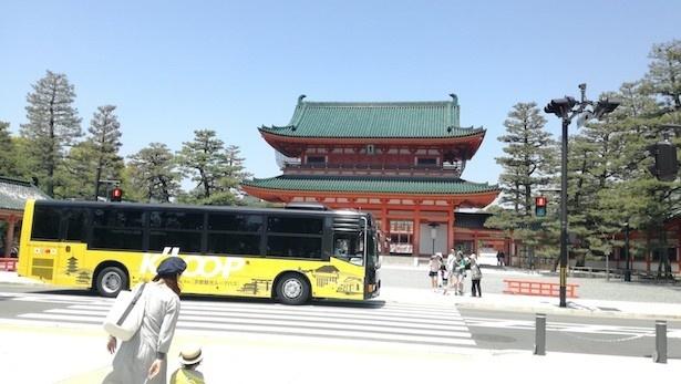世界遺産6か所を含む京都の観光スポットを回遊する「京都観光ループバス(K'LOOP)」