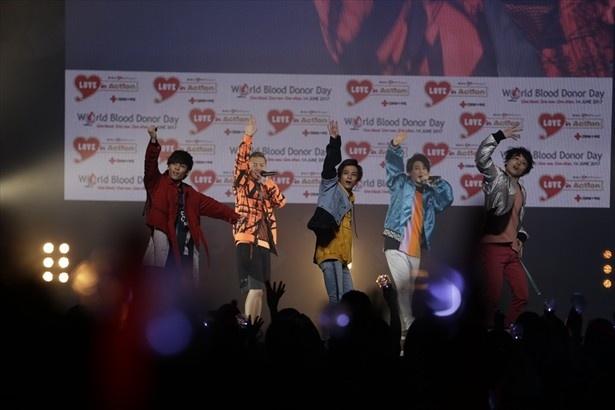 トリで登場した5人組ダンス&ボーカルグループDa-iCE