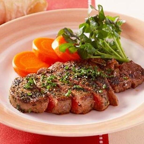 「牛肉のハーブステーキ」 レタスクラブニュースより