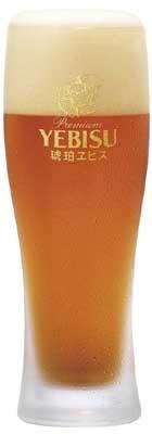 クリスタル麦芽を使用した「琥珀ヱビス」(330ml・550円)