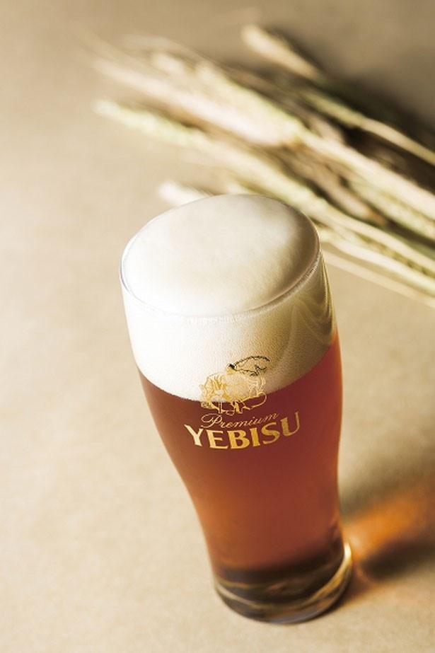 ヱビスバーでは「琥珀ヱビス」(750円)など4種類の生ビールを楽しめる