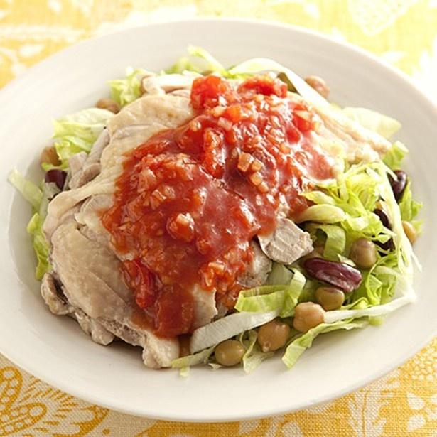 ゆでどりと豆のサラダ