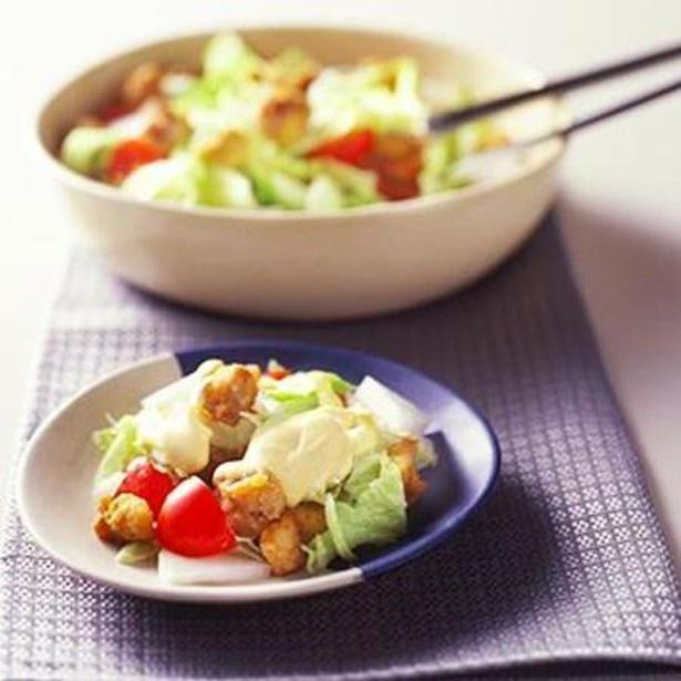 ミニから揚げのサラダ