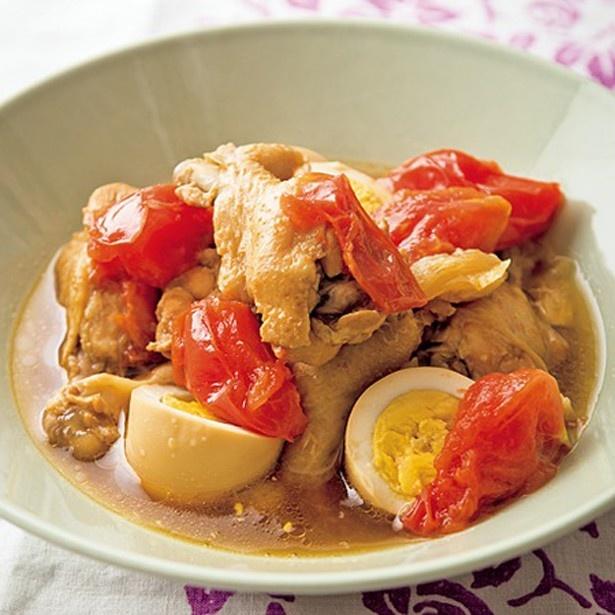 トマトのさっぱり親子煮