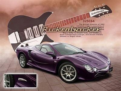 「大蛇 Rickenbacker」(ナビゲーション付き/5AT)。ボディには、リッケンバッカーギターヘッド調エンブレムが施されている