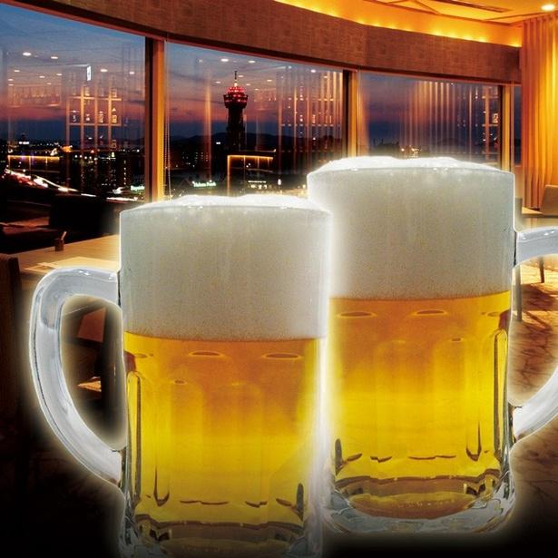 生ビールやワイン、日本酒、焼酎、梅酒などが飲み放題!