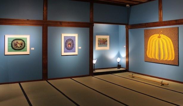第2展示室は草間がニューヨークに滞在していた頃から日本へ帰国した頃の作品を中心に作品を展開