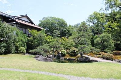 秋は紅葉、春は桜が楽しめる美術館敷地内の純日本庭園