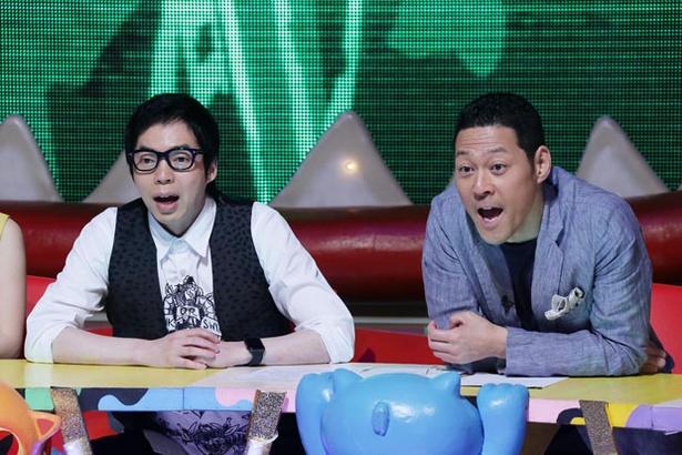 司会を務める今田耕司(写真左)と東野幸治(写真右)