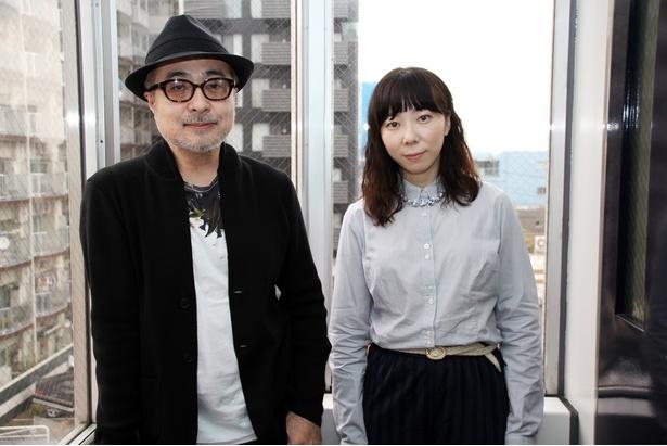 「業音」の見どころを語る松尾スズキ(左)と平岩紙(右)