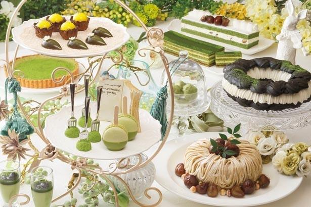 「MATCHA Sweet Garden」(3900円)/京都センチュリーホテル オールデイダイニング ラジョウ