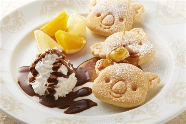 通常ビュッフェも楽しめる。画像は毎日提供される「コアラのマーチパンケーキ」