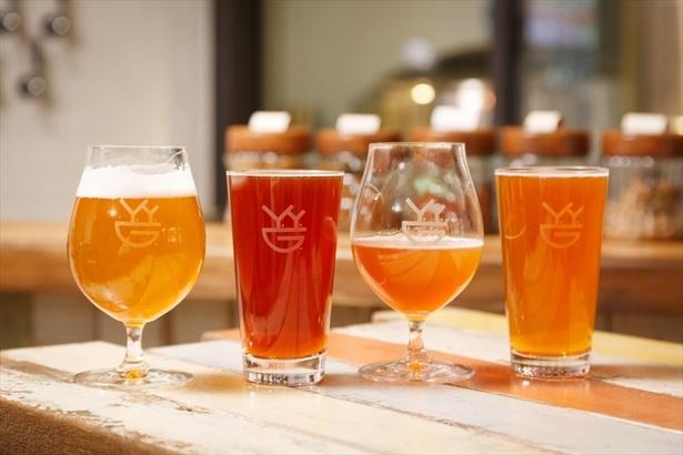 国内外のゲストビール4種前後を、キャッシュオンデリバリーで